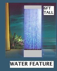 Water Feature Indoor 6Ft - Bubble Wall Style Acrylic